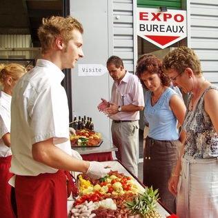 Cateringbuffet an Roadshow