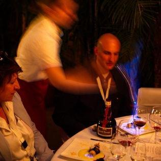 Dessert Flambieren am Tisch