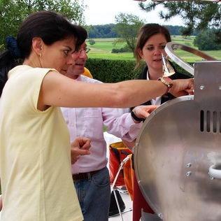 Grillvermietung Instruktion des Grillgerätes