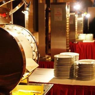 Catering-Buffet an Aufrichte Grossbaustelle