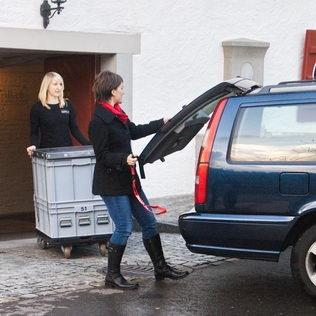 Mietgrill Transport in Personenwagen